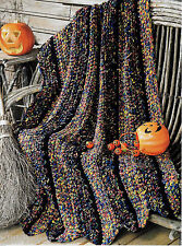 FALL FANCY AUTUMN AFGHAN - VINTAGE CROCHET PATTERN