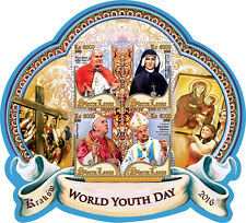 Sierra Leone 2016 MNH World Youth Day Pope John Paul II Francis 4v M/S Stamps