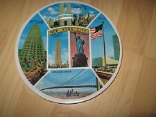 NYC Vintage Plate - 1970s New York City Twin Towers Statue Liberty Souvenir Dish