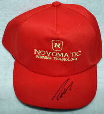 Niki Lauda Signed NOVOMATIC WINNING TECHNOLOGY Replica Cap / Hat with Proof
