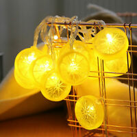 Lemon 20LED Solar Powered Fairy String Light Garden Party Birthday Outdoor Decor