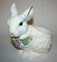 Vintage Ceramic Bunny Rabbit Planter, Holland Floral Inc. 1995