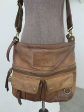 Fossil Crossbody Authentic Brown Genuine Leather Purse Messenger Bag