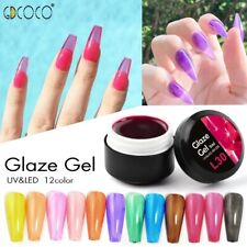 GDCOCO Glaze Gel Glass Lacquer Translucent Candy Gel Color Neon Gemstone Soak Of