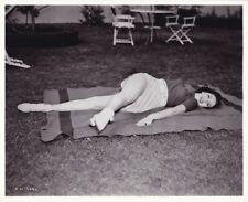 ANN MILLER Original CANDID Workout RKO Studio Lot Vintage 1938 Leggy Photo
