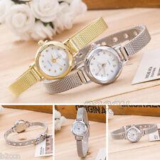 Fashion Ladies Bracelet Watch Silver Gold Stainless Steel Mesh Band Wrist Watch