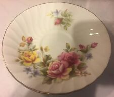 Royal Sutherland Fine Bone China Replacement Saucer England Roses Pink Yellow