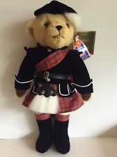 "MerryThought Tan Scottish Harrods Teddy Bear. Hand Made in England, 19"" tall"