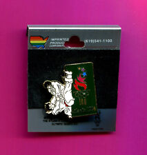 1996 OLYMPIC PIN JUDO EVENT PIN IMPRINTED PIN #41273 NEW ON CARD CLOISONNE PIN