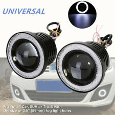 "2*3.5"" LED Car Fog Light White Angel Eyes Standlichtringe Driving Head COB Lamps"