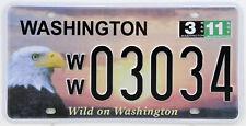 Plaque d'immatriculation américaine WASHINGTON Wild on Washington