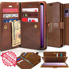 For Galaxy S20 Ultra S10 S9/Note20 10 9 Dual Shockproof Flip Wallet leather Case
