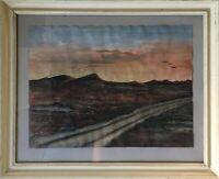 Abendsonne am Meer Dünen Strand Ralph 1958 signiert 31,5 x 38,5 cm
