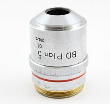 Nikon BD Plan 5x 0.1 Microscope Objective 210 Optiphot Epiphot