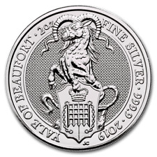 United Kingdom 5 Pound 2019 - 2 oz Queen's Beast - YALE Of Beaufort Silver coin