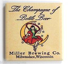 Miller High Life Girl FRIDGE MAGNET (2 x 2 inches) beer label bottle