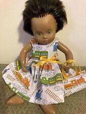 Sasha Puppenkleidung kompatibel mit Baby Sasha, Zug Kleid. Handarbeit