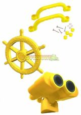Yellow Playground Accessory Kit Cubbyhouse Ships Wheel Binoculars Handles pack
