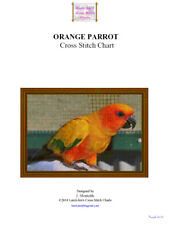 ORANGE PARROT - cross stitch chart
