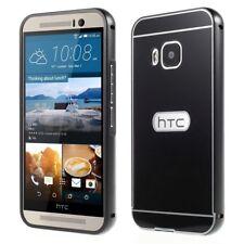 Metal Bumper Rim Slide on Back hinten Cover Rahmen Frame Schwarz für HTC One M9