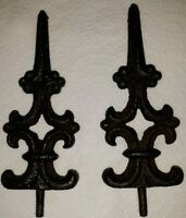 2 Vintage Iron Fence Top Decorations Victorian