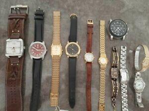lot of 11 watches:3pcs Citizen, 3pcs Fossil, Michael Kors, Swiss army Victorinox