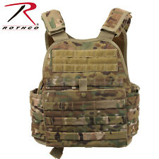 Rothco MOLLE Plate Carrier Vest Black,OD,Coyote,Multicam,ACU,Grey