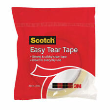 Scotch Easy Tear Tape, 25 mm x 50 m - Clear FREE P&P