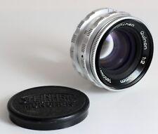 STEINHEIL MÜNCHEN Objektiv Lens QUINON 2/50 mit M39 Gewinde BRAUN PAXETTE