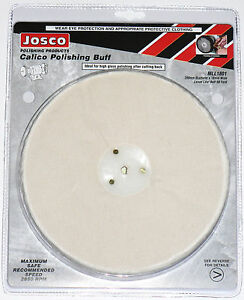 "Josco Metal Polishing Mop Buff Calico Loose Leaf 200mm 8"" Suit Polisher/Grinder"