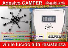 Adesivo CAMPER, roulotte, motorhome, 4x4, barca, rosa dei venti, restauro