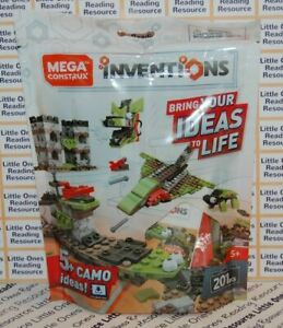 Mega Construx Inventions CAMO Brick Building Set FWP28 - 201 Pieces
