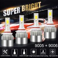 4Pcs 9005 9006 Combo Total 390000LM 2600W LED Headlight Kit High-Low Beam 6000K