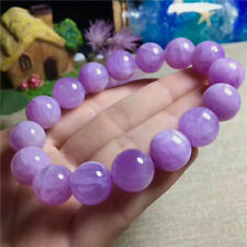 13mm Natural Lavender Amethyst Quartz Crystal Round Beads One Bracelet Aaa