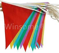 33 pies 20 Banderas Color Multi Banner EMPAVESADO Fiesta Evento Hogar Decoración De Jardín