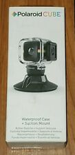 Polaroid Cube Waterproof Case & Suction Mount. New