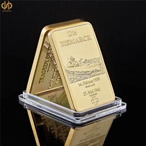 WW2 Gold Bullion Bar Deutschland Commemorative Coins Souvenir Coin