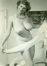 6 ORIGINAL 1950s NUDE WOMAN B&W Photographs Set 71 MEGA BUSTY MATURE HOT MAMA