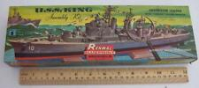 RARE RENWAL 1950's ISSUE U.S.S. KING MODEL KIT BEAUTIFUL INVESTMENT QUALITY!