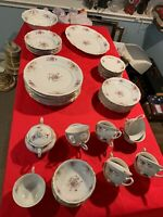 Vintage Set of 50 pieces Jarolina Floral pattern  China Dinner Plate Poland c633