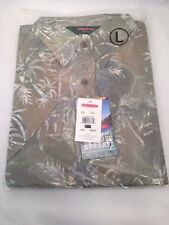 REDINGTON PALM BATIK PRINT CASUAL SHIRT SIZE LARGE -  SAGE - NEW - MSRP $50