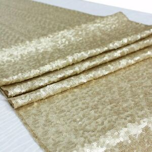 """Glitter Sparkly Sequin 6Ft Table Runner 12""""x108"""" Wedding Party Deco 30 x 275 cm"""