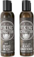 Viking Revolution Beard Wash  Beard Conditioner Set W/Argan  Jojoba Oils – Sof