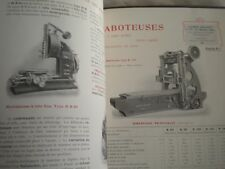 Vintage catalogue metal workshop industrial machinery lathes drills Bouhey 1910s