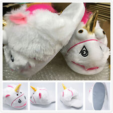 X'mas Unicorn Plush Indoor Shoes Slippers Fit US5,5.5,6,6.5,7,7.5,8 X'mas Gift