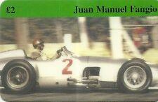 RARE / CARTE TELEPHONIQUE - FORMULE 1 JUAN MANUEL FANGIO / PILOTE F1 / PHONECARD