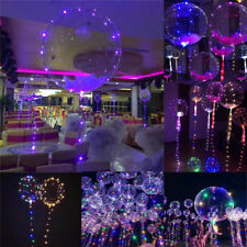 20 Luminous Transparent Balloon Round Bubble Party Light Kids Toy Decorations