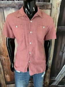 Double RL Polo Ralph Lauren Antique Red Vintage Camp Button Up Shirt XL RRL