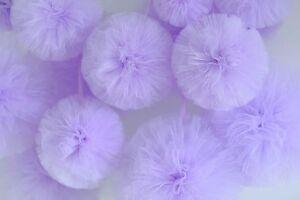Lavender tulle pom pom / wedding / party / birthday / nursery decorations