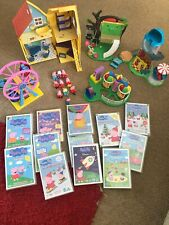 Large PEPPA PIG Bundle House/Big Wheel/Helter Skelter/roundabout 10 Pigs 12 DVDs